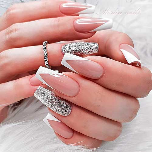 Stunning V French Tip Nails Designs Cute Manicure